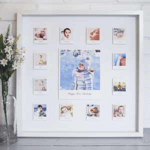 Personalised Year In The Life 3D Baby Frame - photography & portraits