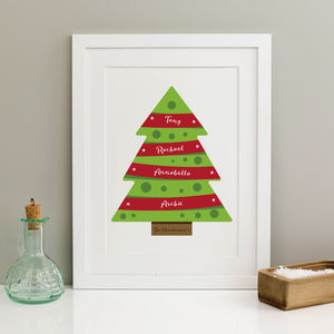 Personalised Christmas Tree Print - christmas home accessories
