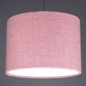 Blush Pink Harris Tweed Wool Lampshade