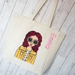 Personalised Cotton Canvas Tote Bag
