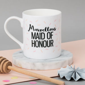 Personalised Maid Of Honour Wedding Mug - wedding favours