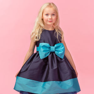 Taffeta Bow Dress - clothing