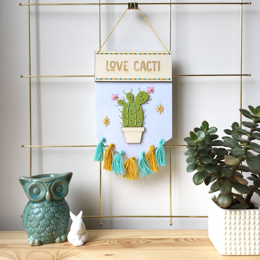Love Cacti Banner Sewing Kit