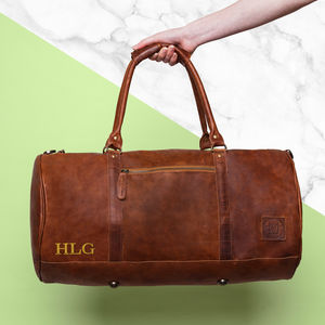 Personalised Leather Classic Duffle - gifts for him