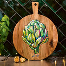 Hand Painted Artichoke Design Wooden Board