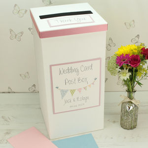Personalised Bunting Wedding Post Box - room decorations