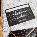 Personalised Rectangular Christmas Gift Tag Stickers