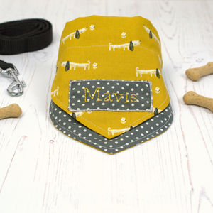 Personalised Dog Neckerchief - clothes