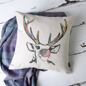 'The Deer' Cushion Cover