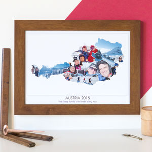 Personalised Travel Photograph Map Hello Ruth - canvas prints & art