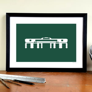 'Mayflower Entrance' Minimalist Plymouth Argyle Print - shop by subject