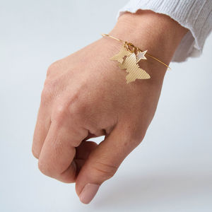 Gold Butterfly And Star Charm Bracelet - bracelets & bangles