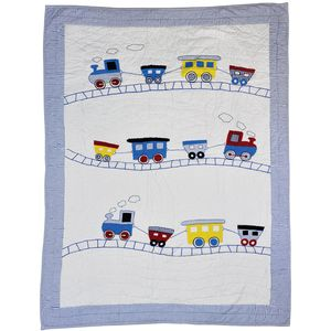 Trains Quilt - baby's room