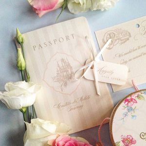 Passport To Paradise Invitation And RSVP Booklet - invitations