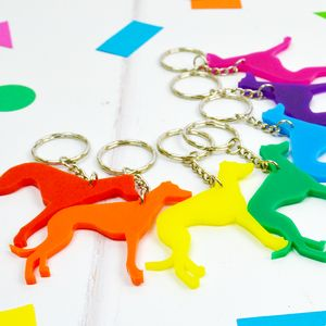 Greyhound Keyring
