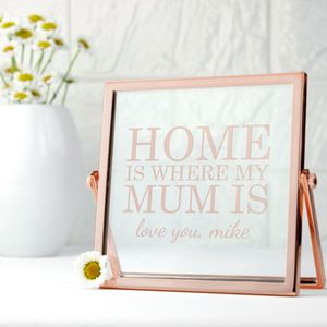 Personalised Rose Gold Metal Frame - picture frames