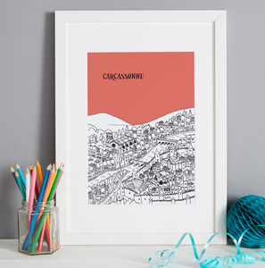 Personalised Carcassonne Print