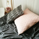 Patterned Grey Wool Cushion