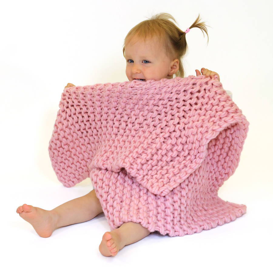 Knitting Kits For Throws : Baby blanket beginners knitting kit by wool couture