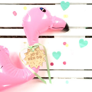 Tropical Party Inflatable Pink Flamingo - personalised