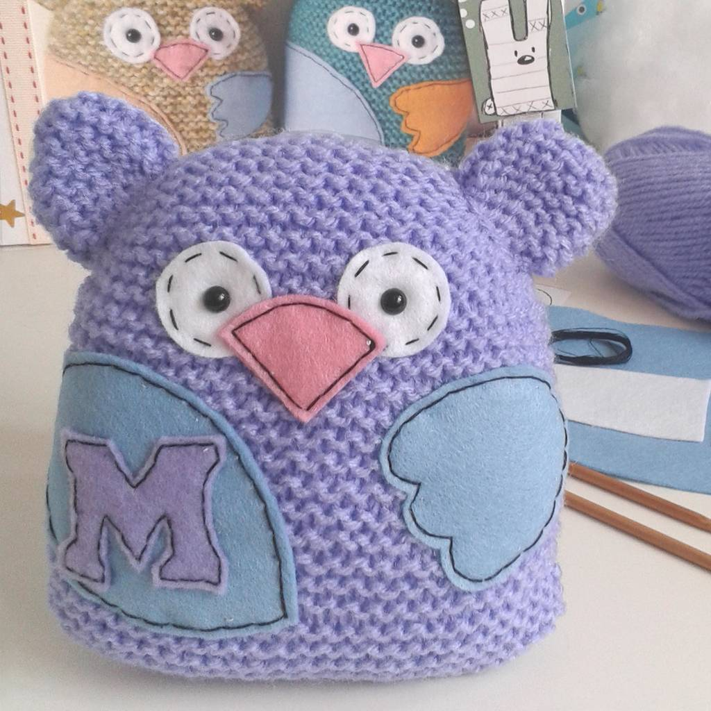 'Little Hoot' Personalised Handknitted Owl