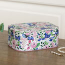 Floral Travel Jewellery Box