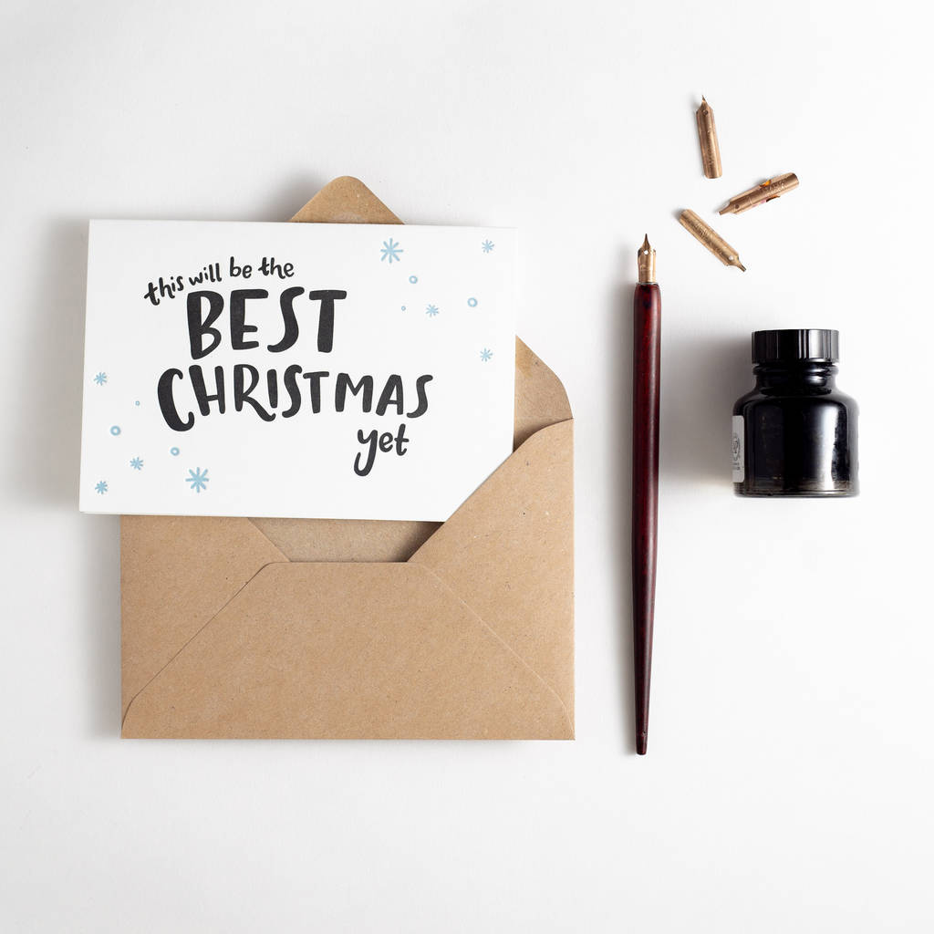 this will be the best christmas yet letterpress card by hunter paper ...