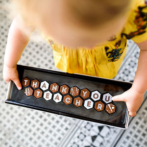 Thank You Teacher Alphabet Chocolate - gifts for teachers
