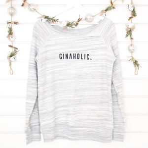'Gin A Holic' Ladies Cosy Jumper - women's fashion