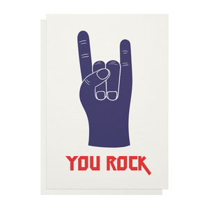 You Rock Greetings Card