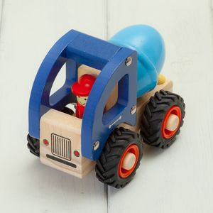 Children's Cement Mixer Truck Wooden Toys