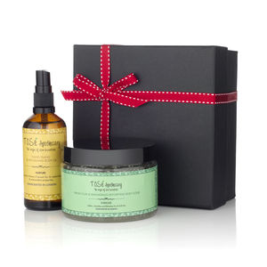 Body Scrub And Body Oil Grande Set - gift sets