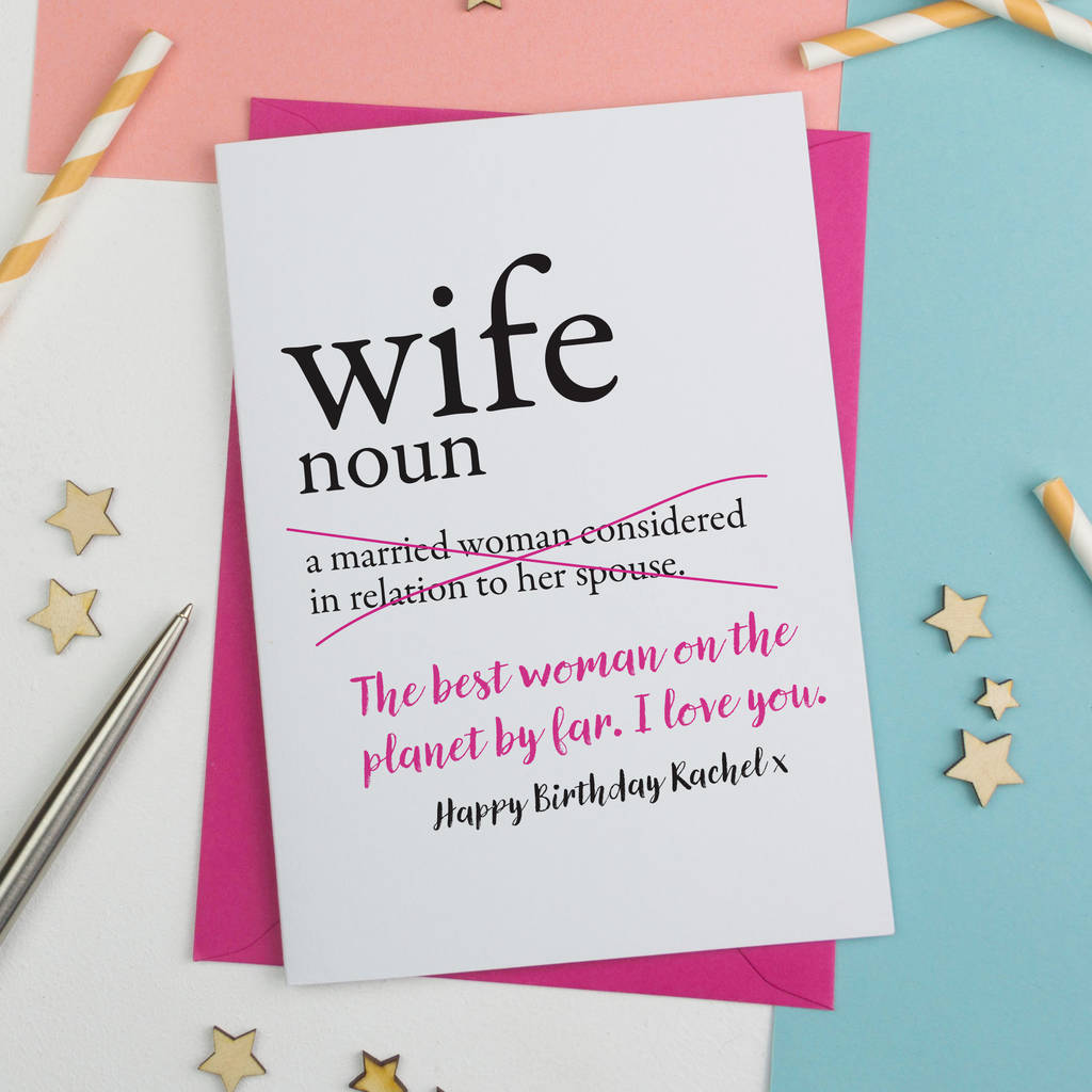Birthday Card For Wife Funny