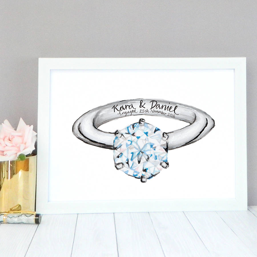 personalised engagement gift by de fraine design london ...