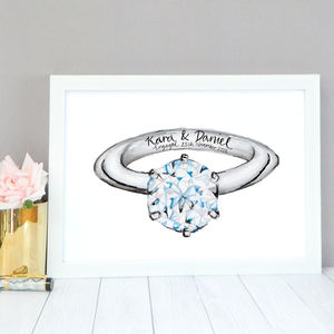 Personalised Engagement Gift - dates & special occasions