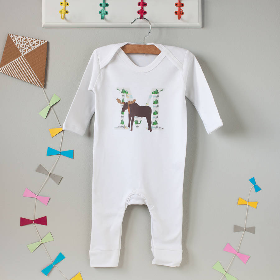 M Is For Moose Babygrow