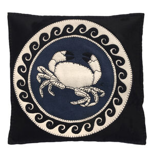 Hand Embroidered Zodiac Cancer Cushion