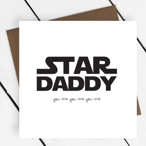 'Star Daddy' Text Greeting Card - graduation cards