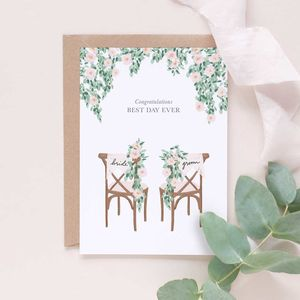 Wedding Congratulations Card Best Day Ever - what's new