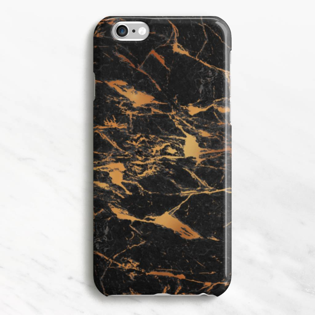 Black And Gold Marble iPhone Six 6s Case