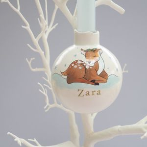 Baby's First Christmas Bauble Decoration Fawn