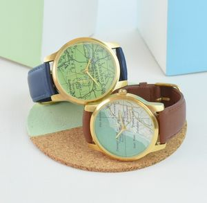 Personalised Map Location Watch - gifts for grooms