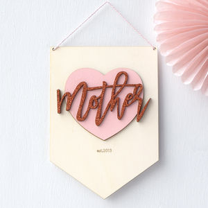 Mother Personalised Mothers Day Banner