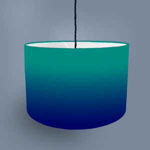 Faded Striped Lampshade Available In Four Colour Ways - lampshades