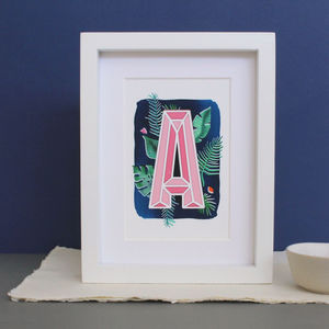 Botanical Papercut Letter Print - what's new
