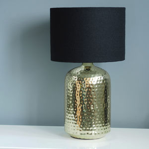 Black Harris Tweed Wool Lampshade