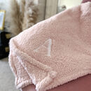 Personalised Embroidered Teddy Fleece Blanket