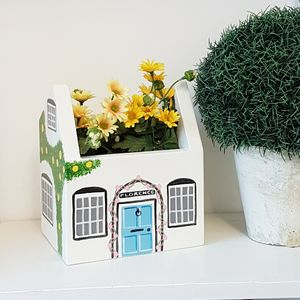Personalised Cottage Plant Holder - flowers, plants & vases