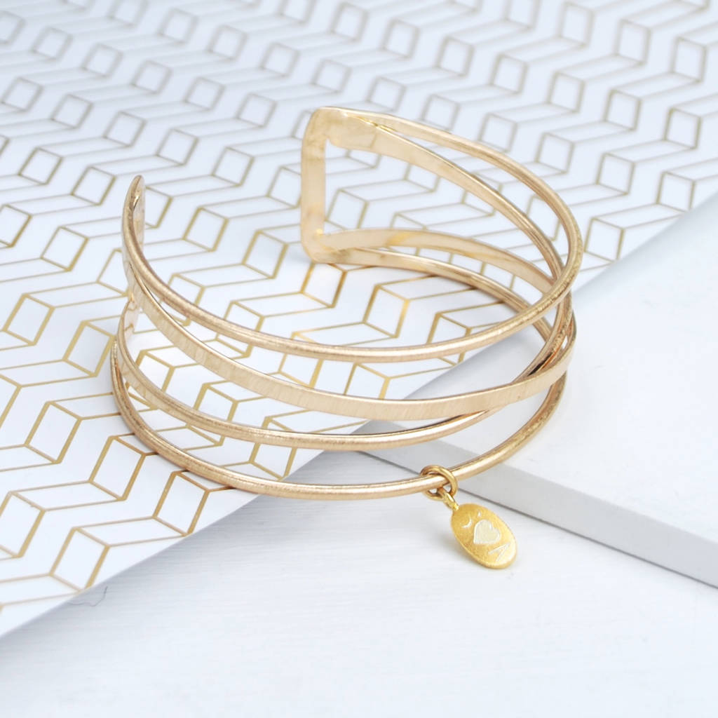 bracelet thin pfs sterling az modern stackable gold cz cuff bangles jewelry silver bling plated bangle