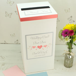 Personalised Heart String Wedding Post Box